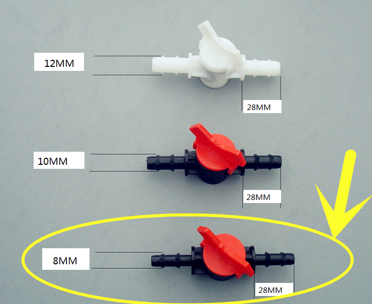 K199B 8MM Diameter Water Flow Regulator Direct Valve Switch Gardening Tools Sell At A Loss USA Belarus Ukraine