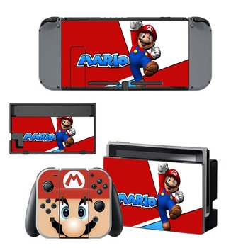 Nintend Switch Vinyl Skins Sticker For Nintendo Switch Console and Controller Skin Set - For Super Mario