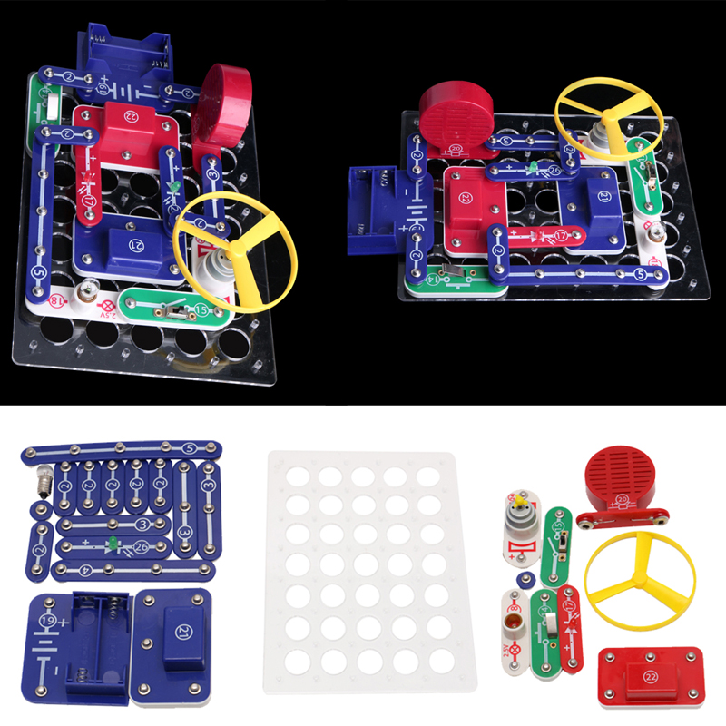 New 1Set Snap Circuits Electronics Discovery Blocks Kit Science DIY Educational Toy Kids Gift
