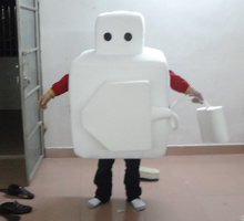 TOLOCO white plug mascot costume for adults special clothing & Buy plug costume and get free shipping on AliExpress.com
