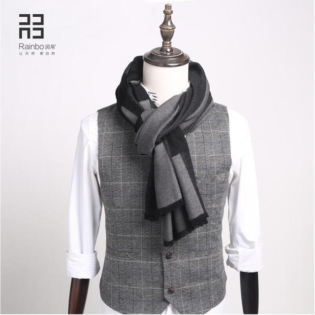Мужская 2016 новый осенне-зимней моды шарфы мужчины и женщины теплые шерстяные шарфы кашемир шарф