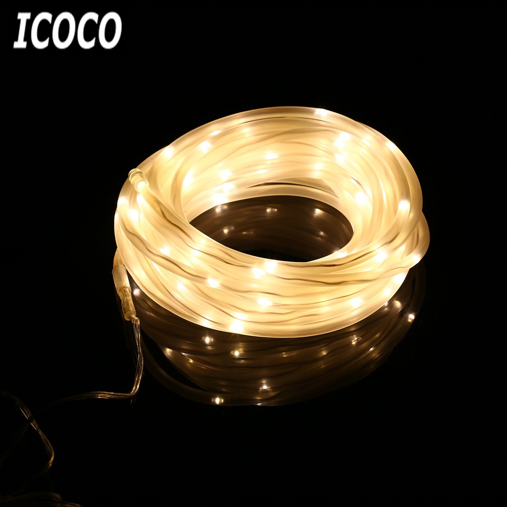 ICOCO Waterproof 100 LEDs Copper Wire Solar Powered Fairy String Light for Outdoor Chirstmas Wedding Party Festival Home Decor