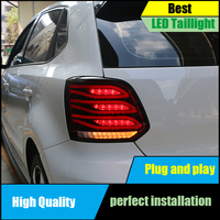 Car Styling For Volkswagen VW Polo Tail Light Assembly 2011 2017 LED TailLight dynamic turn signal Rear Lamp Accessories