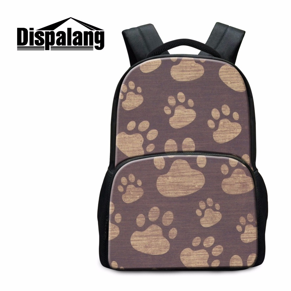 Us 29 98 25 Off Dispalang Make Your Own Laptop Backpacks Footprints Pattern On Book Bags Good Daily Bag For College Students With Notebook In