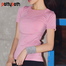 Patty Both Yoga Shirts Tops Sports Apparel Fitness Tanks Sport T Shirt Woman Gym Athletic font