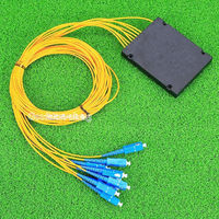 SC/UPC 1*8 PLC Fiber Optical Splitter SC/FC/ST/LC Connector PLC Splitter