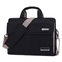13.3 14.115.415.6Big Capacity black Notebook Messenger Pouch Laptop Computer Shoulder Handle Bag for macbook pro air retina