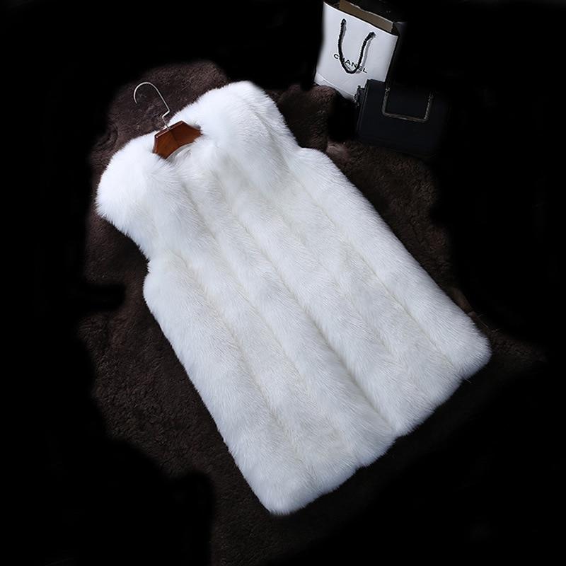 Grey Renard Longue Fourrure Gilet Femmes En De Vêtements Grey lt Femelle dk Manteau Hiver Fausse Nouvelle Veste S Blanc Mode 6xl wqR4wzP