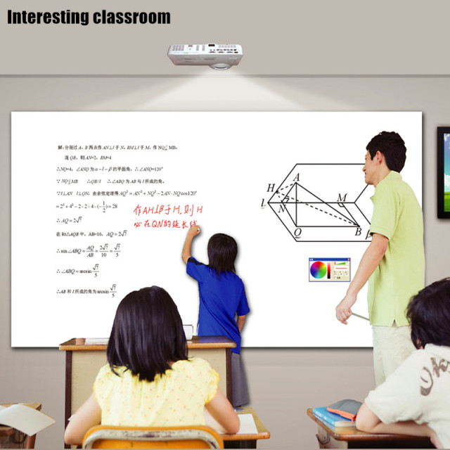Interactive White Board Display Education Classroom Learning Teaching