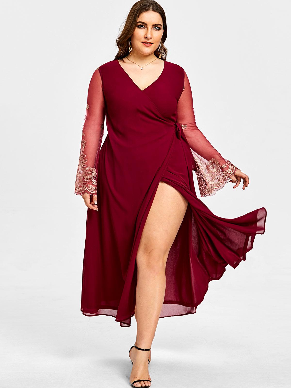 Deep V Neck Belt Plain Half Sleeve Maxi Dresses garnet hill light purple