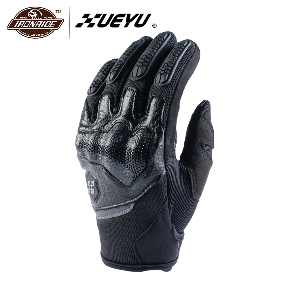 XUEYU Genuine Cowhide Leather Motorcycle Gloves Men Motocross Gloves Motorbike Riding Protective Gear Touchscreen Moto Gloves new edision arrival leather pink gloves ladies riding moto gp anti fall imported sheepskin gloves