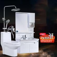 WJS-5211, современный простой шкаф для ванной комнаты, набор унитаза из одного предмета, сантехника, набор для душа и ванны с раковиной