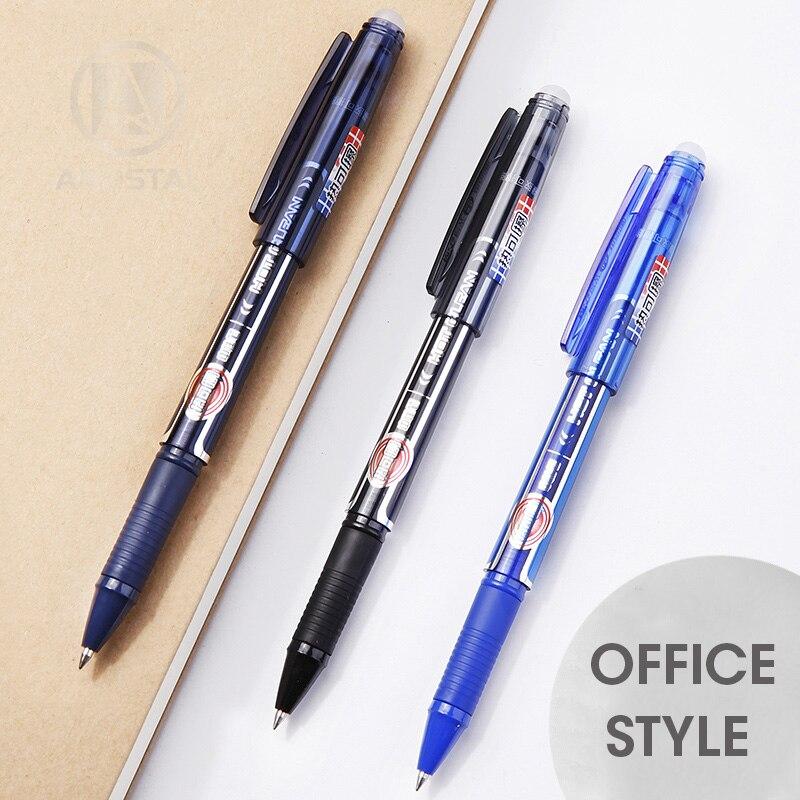 Andstal Smooth Erasable Pen refill 0 5mm M G Black Blue Gel Pen set Gel Pens gelpen eraser for school office supplies Stationery in Gel Pens from Office School Supplies