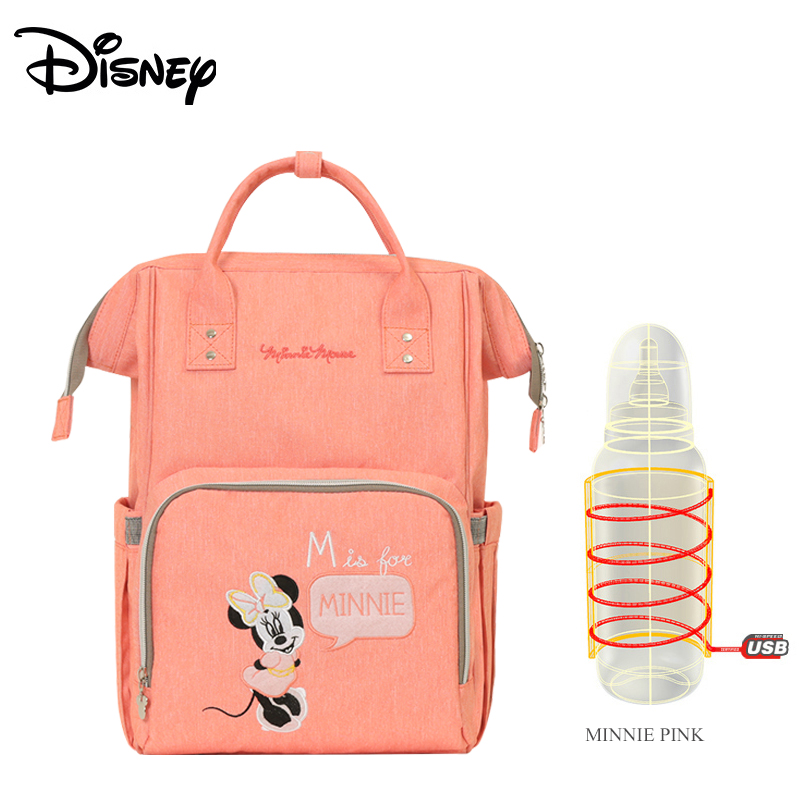 Disney New Upgraded version mickey and minnie Insulation Bag top-capacity Baby Feeding Bottle Bags Diaper Bags Oxford USB bags
