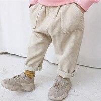 Milancel crianças calças de veludo meninos calças sólida harem calças crianças roupas meninas calças quentes|Calças| |  -
