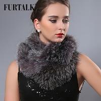 Fur talk 140*14cm extra long natural fox fur wraps infinity fur scarf snood for women