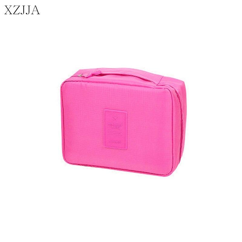 XZJJA Portable Zipper Storage Bag Multi Functional Make Up Organiser Cosmetic Bags Women Men Casual Travel pouch Makeup Handbag