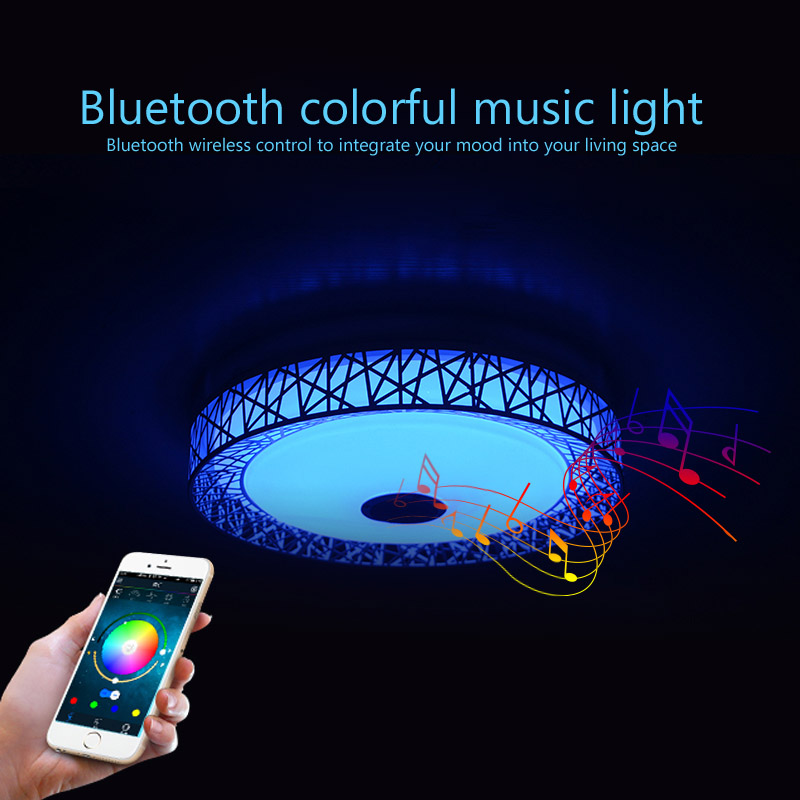 Moderne Nid d'oiseau LED plafond Lumières RGB Dimmable APP + télécommande Bluetooth Musique lumière foyer bébé chambre plafond lampe