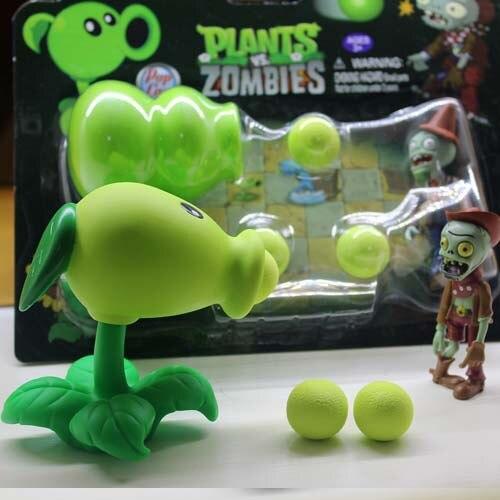 Creative Shooting Gun PVZ Plants vs Zombies Peashooter Doll PVC Model Water Game