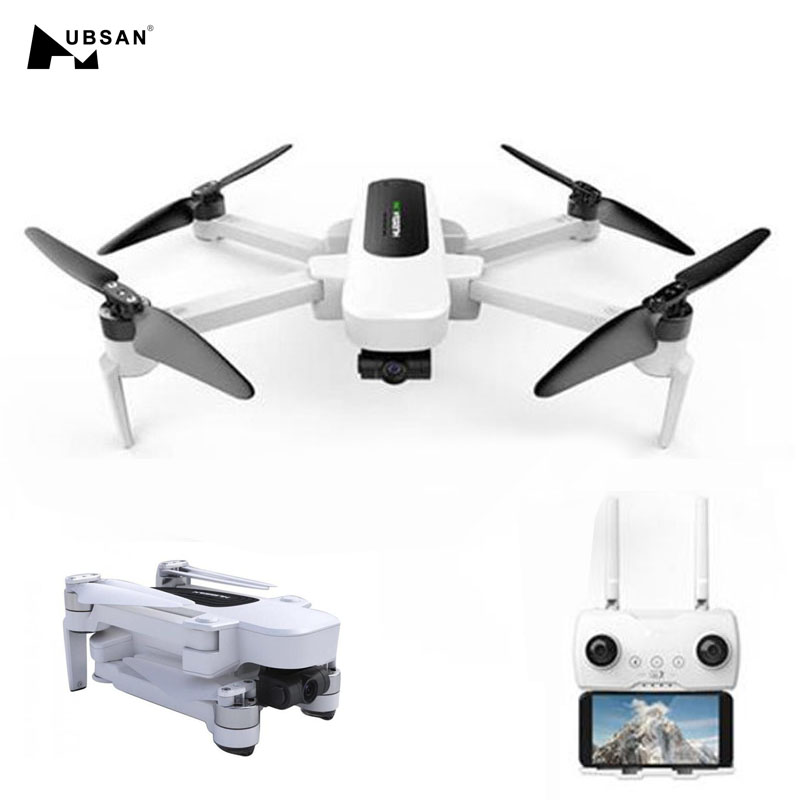 Hubsan H117S Zino GPS 5G WiFi 1 KM FPV avec caméra 4 K UHD 3 axes cardan RC Drone quadrirotor RTF noir/blanc