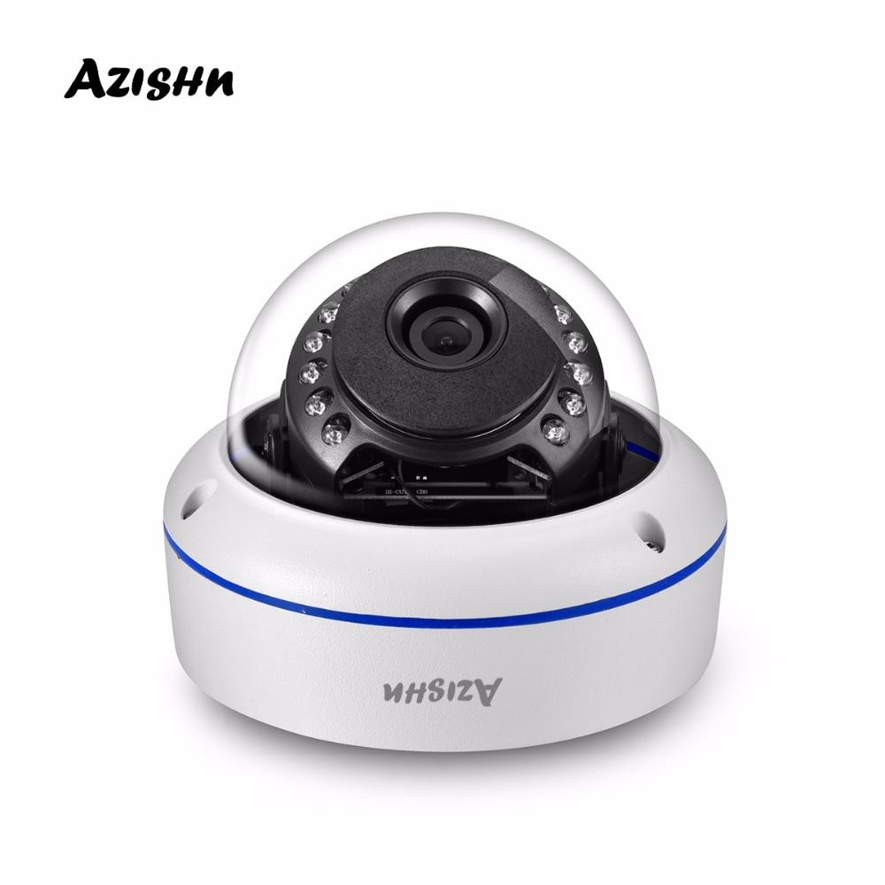 AZISHN 5MP 2592x 1944P Super HD IP POE Security Camera Onvif Vandalproof Camera 15PCS IR LED Outdoor IP66 Waterproof Dome camera