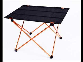 Portable Foldable Folding Table Desk Furniture Outdoor Picnic Aluminium Alloy  ultralight  beach table orange and red giantex portable outdoor furniture set table 4 chairs set garden camp beach picnic folding table set with carrying bag op3381re