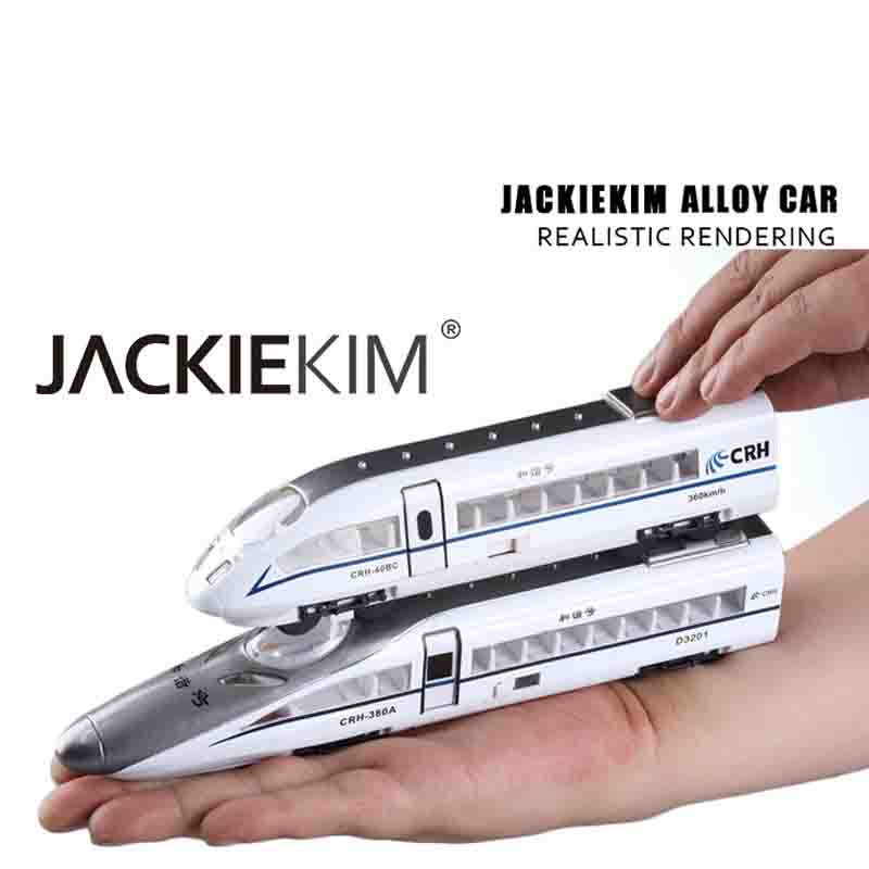Back to power car Alloy car Harmony alloy model Train model CRH China Railway High-speed Exquisite and interesting alloy car mod