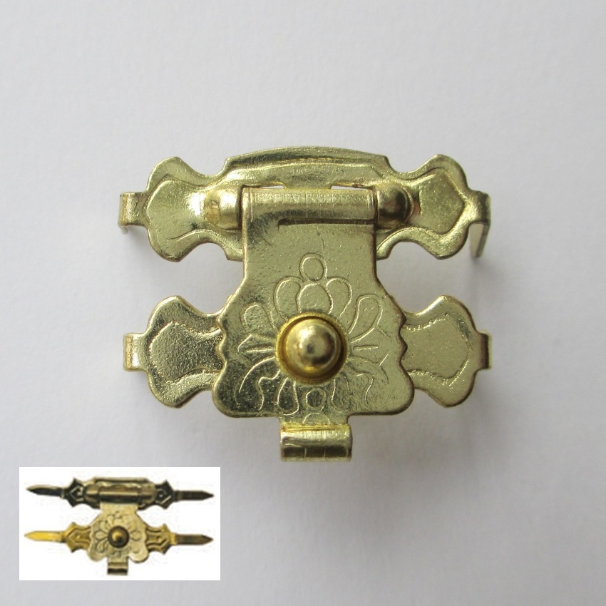 100pcs/lot 17*17mm Latch Catch Brass Finish Buckle Clasp Latch Hook Wooden Packing Jewellery Box Drawers Furnitures Decoration box type latch decoration crossbody bag