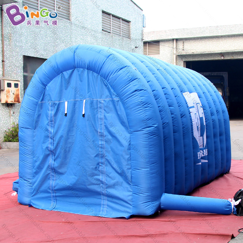 4x2x2 meters Hot Sale Inflatable Blue Tunnel, Inflatable Entrance Tunnel Tents, Cheap Inflatable Football Tunnel for Events jungle cheap small inflatable obstacle course for sale