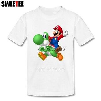 Super Mario Bros Yoshi Garçon Fille T-shirt Bébé T-shirts 2018 infantile 100% Coton T-shirt Ras Du Cou Kid enfants de T-shirt Pour Enfant