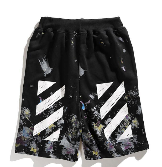 OFF-WIT C/O VIRGIL ABLOH OW 19ss streetwear Starry Vuurwerk Splash OW Losse Sport Strand mannen Jogging shorts