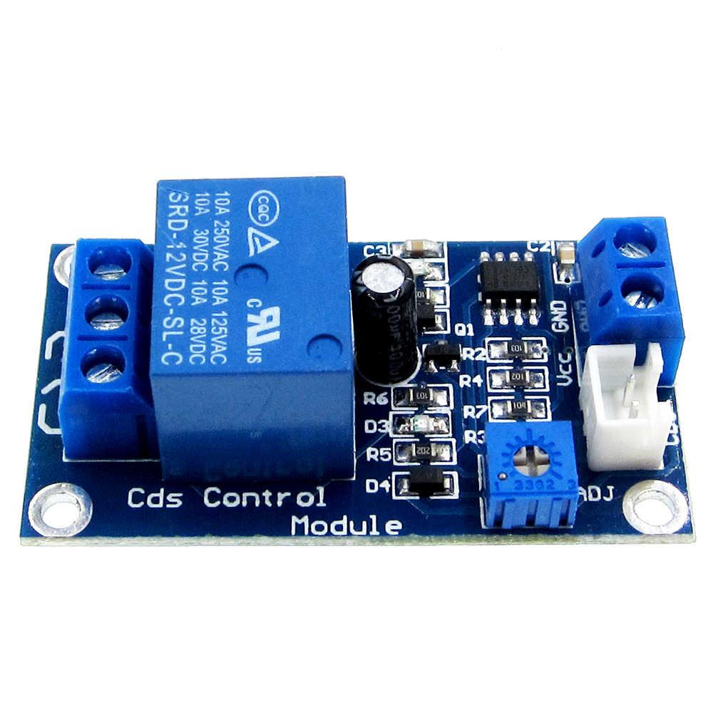 XH-M131 تيار مستمر 5 فولت/12 فولت مفتاح تحكم في الضوء Photoresistor التتابع وحدة جهاز استكشاف 10A سطوع وحدة التحكم الآلي