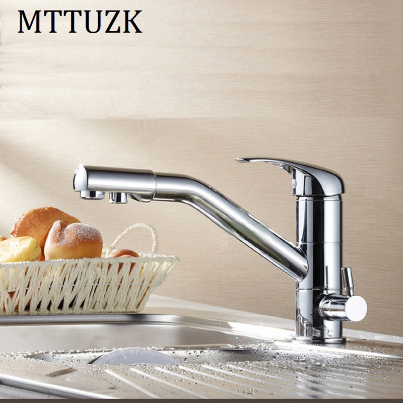 MTTUZK Kitchen basin 2 Outlet pure water taps multifunctional cold and hot water purifier faucet drinking