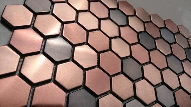 Lila Farbe Hexagon Edelstahl Metall Mosaik Fliesen Für Küche Backsplash  Fliesen Badezimmer Dusche Startseite Verbesserung