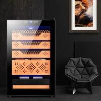 Black FK 68C2 NEW Temperature & Humidity Cooler Cedar Wood Shelf Humidity Adjustable Moisturizing Cabinet Electric Cigar Humidor