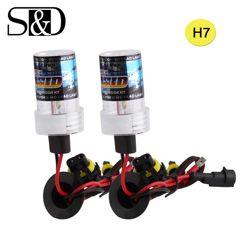 2pcs HID Xenon H7 Headlight Bulbs Replacement Car Light Source 12V 35W 55W Auto H7 Xenon Lamp White Yellow 3000K ~ 6000K D020 2 pcs h7 6000k xenon halogen headlight head light lamp bulbs 55w x2 car lights xenon h7 bulb 100w for audi for bmw for toyota