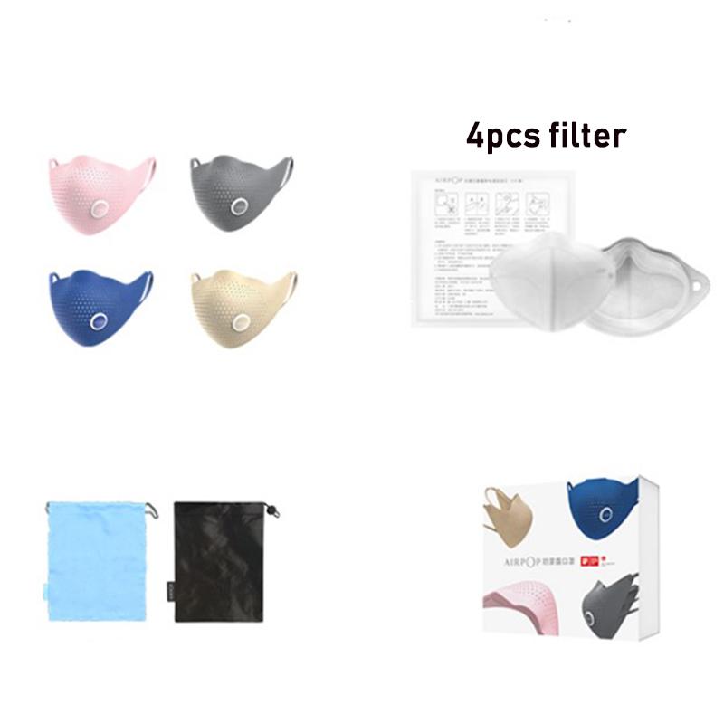 Xiaomi AirPOP Air Wear PM0.3 Anti-haze Face Mask With 4pcs Filter Adjustable Ear Hanging Comfortable Face Masks 4 Colors (5)
