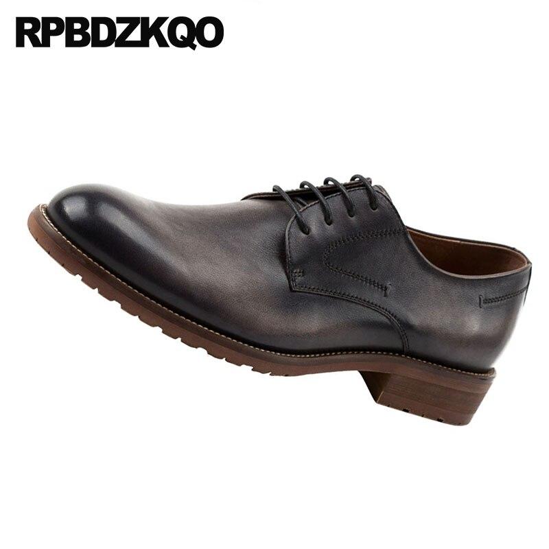 Primavera Otoño Genuino marrón Fiesta Italiano Negro Italia Y Oxfords Zapatos Cuero Europeo Hombres Clásico Vestido Negro Marca De Baile Encaje 1Tq8ZZ