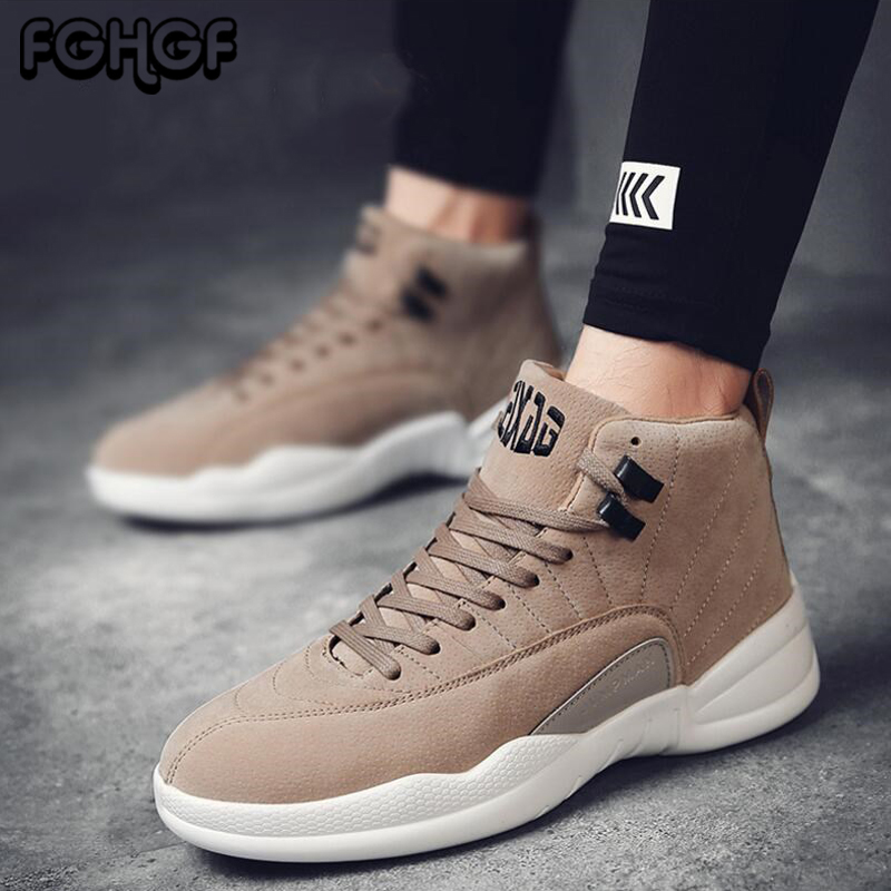 Brilliant Mens Outdoor Boots High Top Booties For Men Comfortable Shoes Casual Sneakers Male Footwear Adult Plus Size Zapatos De Hombre Back To Search Resultsshoes