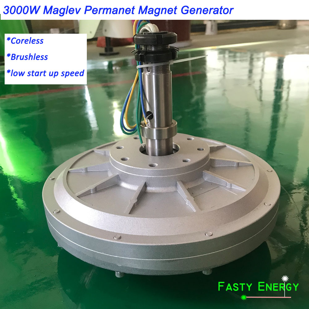 3000 W/3kw 100, 180, 260 tr/min 96/220/380VDC éolienne verticale PMG sans noyau maglev bricolage générateur pour nouvelle puissance de moteur d'énergie