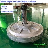 3000W/ 3kw 100, 180, 260rpm 96/220/380VDC vertical wind turbine PMG coreless maglev DIY generator for new energy engine POWER