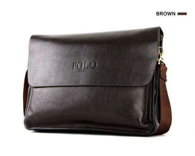 4b34954851 Vente chaude de mode véritable sac de messager en cuir, POLO VIDENG sacs  promotionnels d