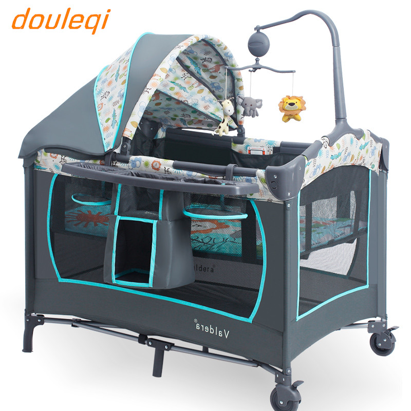 Multi-function baby bed portable folding valdera baby cribs bb game cradle bed valdera portable folding baby crib multifunctional bed bb bed newborn game nets