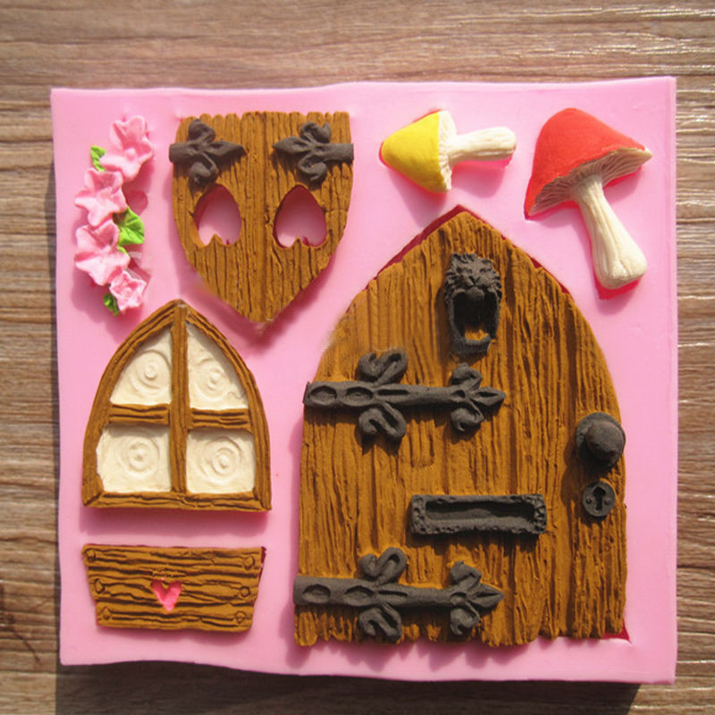 Cartoon House Design DIY 3d Silicone Cake Mold Fondant