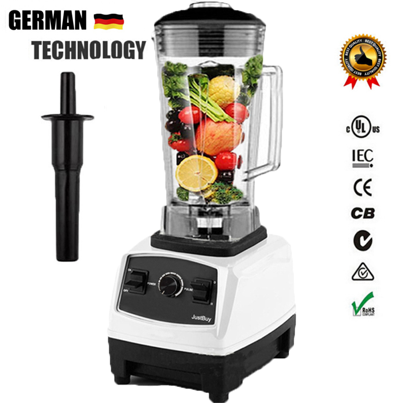 цена на 2017 NO.1 Quality BPA FREE 3HP 2200W Heavy Duty Commercial blender bar Juicer Ice Smoothie Blender Professional Processor Mixer