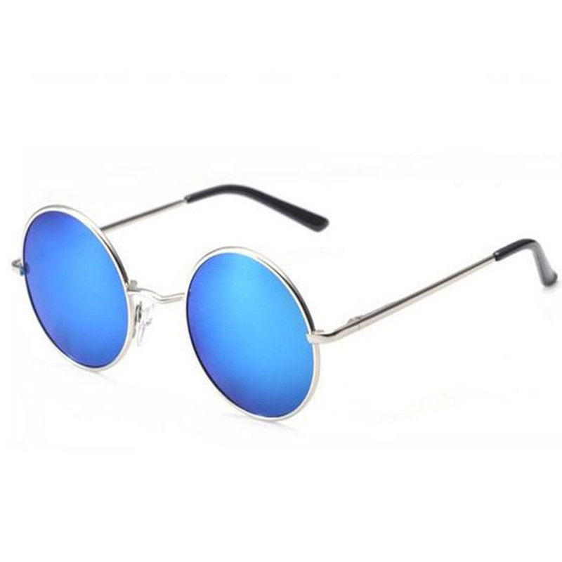 Classic round men women retro sunglasses with case screwdriver set free UV400 male driving sunglasses