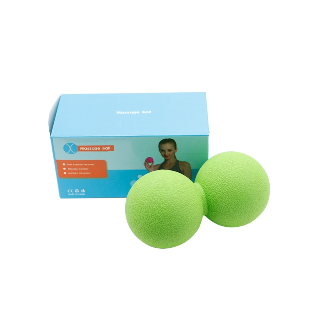 Yoga Yoga Ball Peanut Shape Tpe Rubber Elastic Exercise Muscle Relaxing Accessories For Neck Shoulder Waist Hip Foot Leg