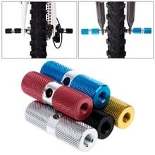 QILEJVS Aluminum Alloy Bicycle Pedal Front Rear Foot Stunt Peg Axle Bike Accessories New