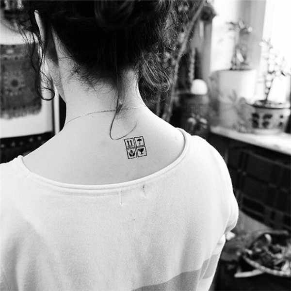 Daily Hot Sale Waterproof Temporary Tattoo Sticker Security Prompt Pattern Design Fake Tatoo Women Sexy Neck Fast