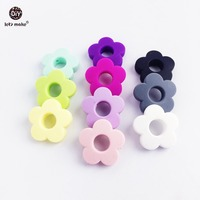 Let's Make Silicone Beads Flower 20pc Silicone Flower Small 2.7cm DIY Crafts Accessories Teething Beads Candy Color Diy Beads